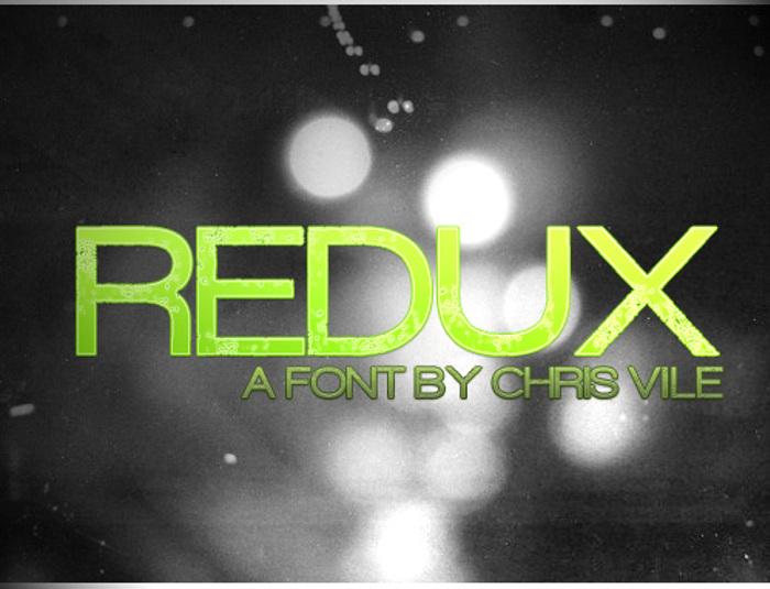Redux Font poster