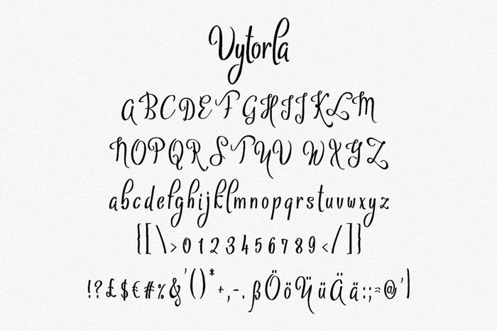 Vytorla Font poster