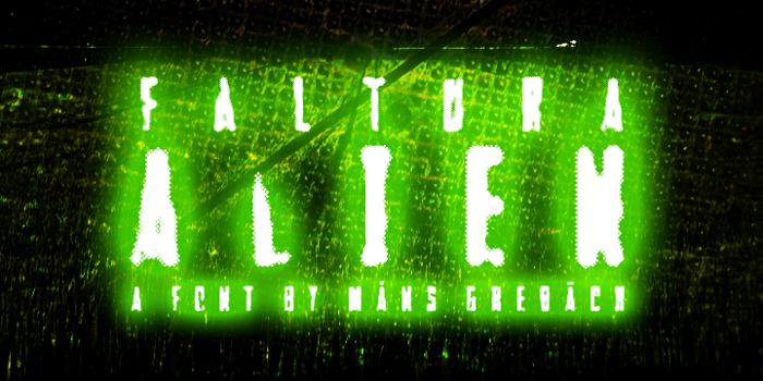 Faltura Alien Font poster