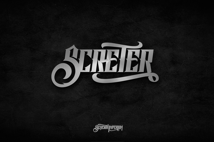 Screter Font poster