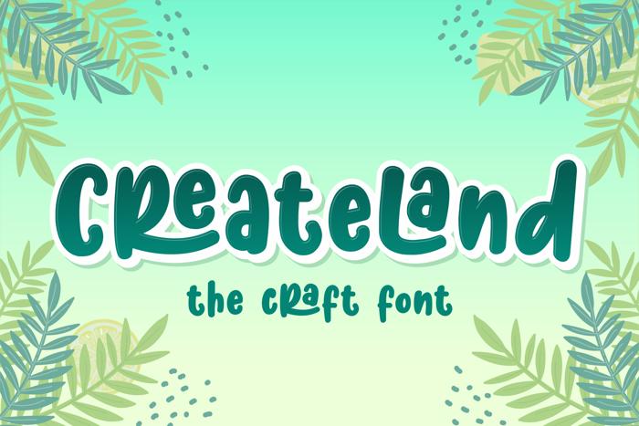 Createland Font poster