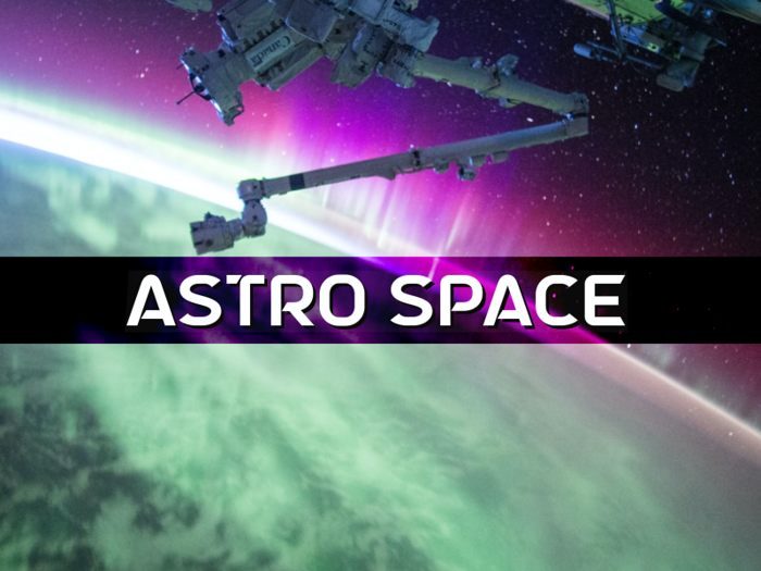 a Astro Space Font poster