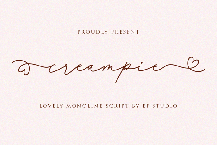 Creampie Font poster