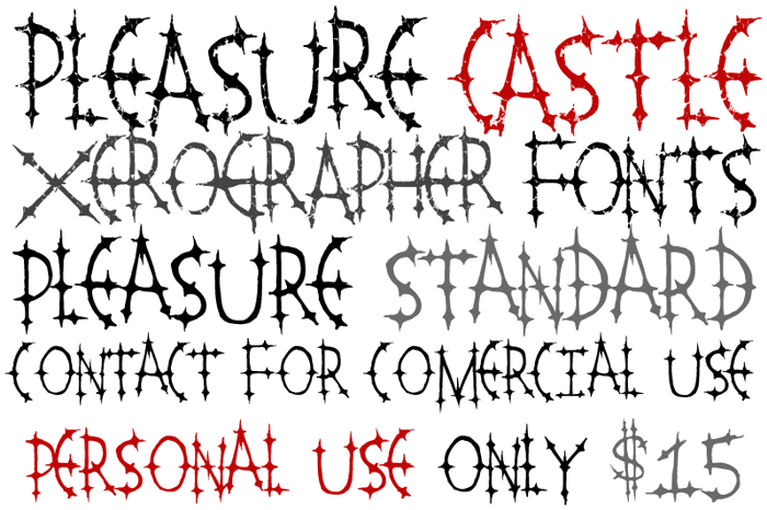 Pleasure Castle Font poster