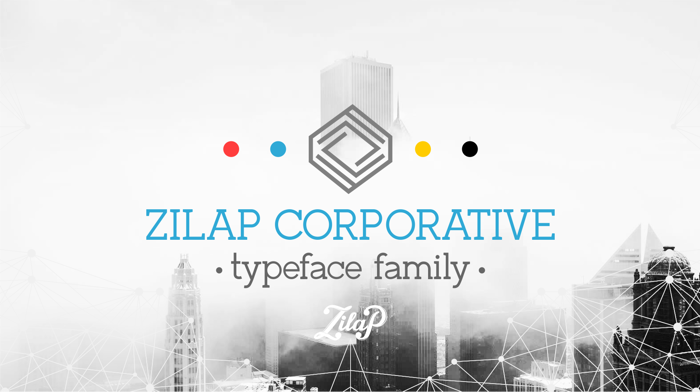 Zilap Corporative Font poster