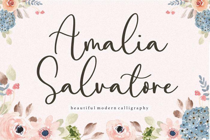 Amalia Salvatore Font poster