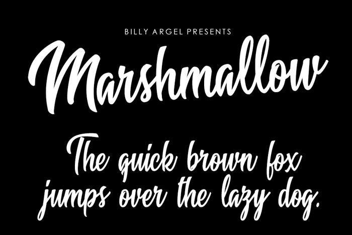 Marshmallow Font poster