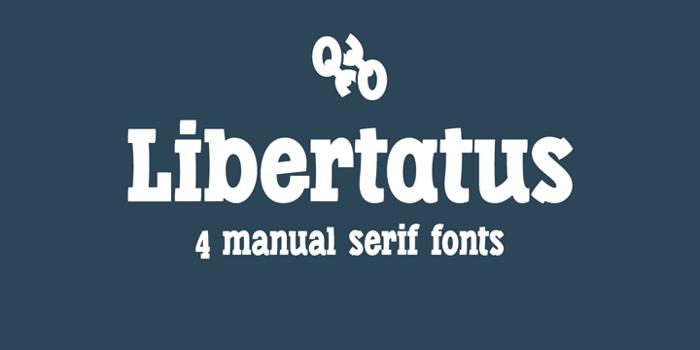 Libertatus Font poster