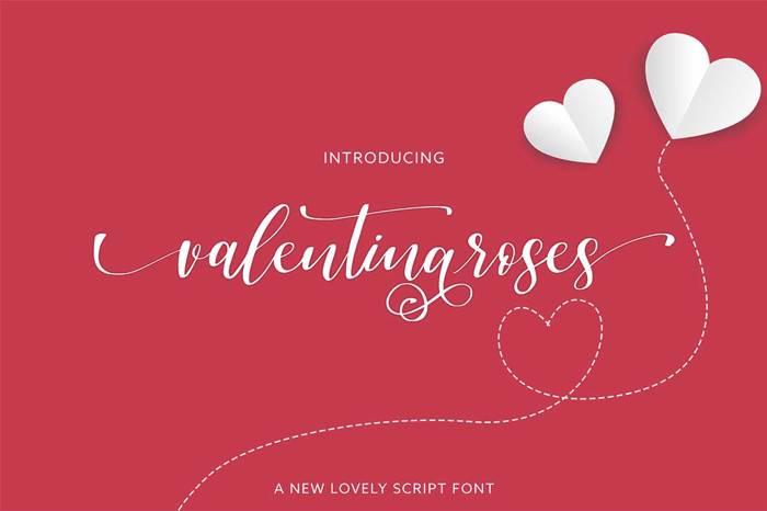 valentinaroses Font poster
