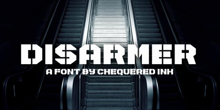 Disarmer Font poster