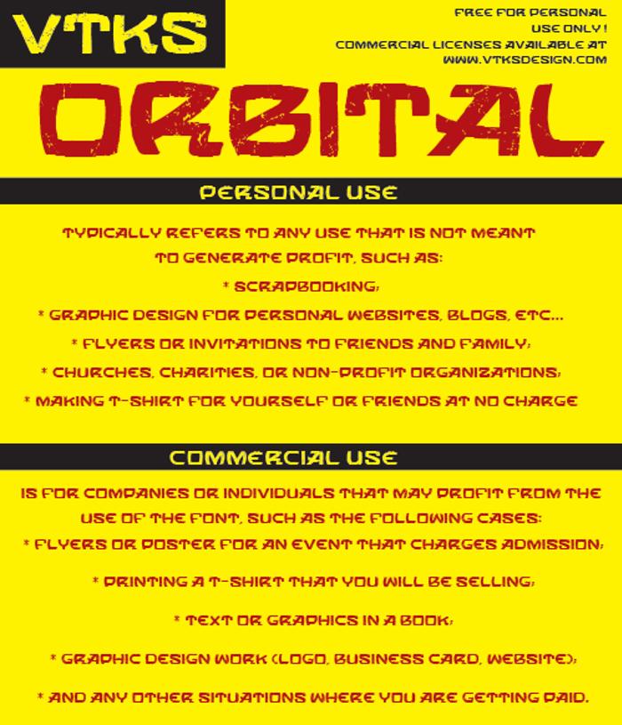 VTKS ORBITAL Font