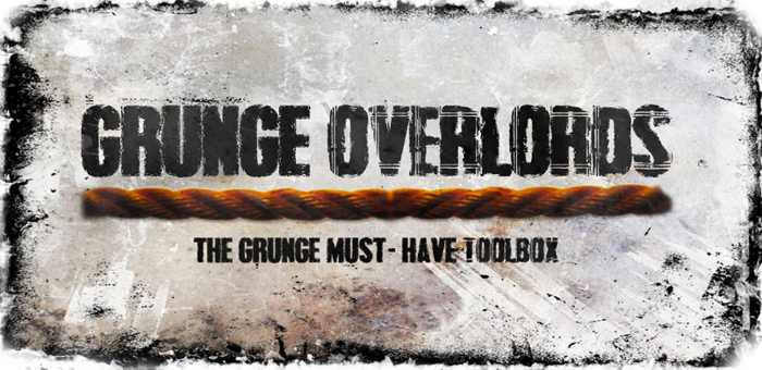 Grunge Overlords Font poster