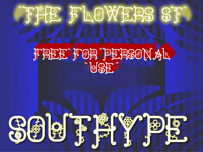 The Flowers St Font poster