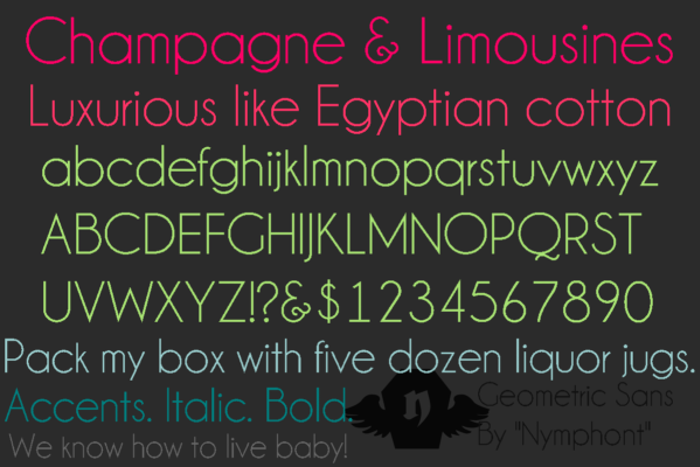 Champagne & Limousines Font poster