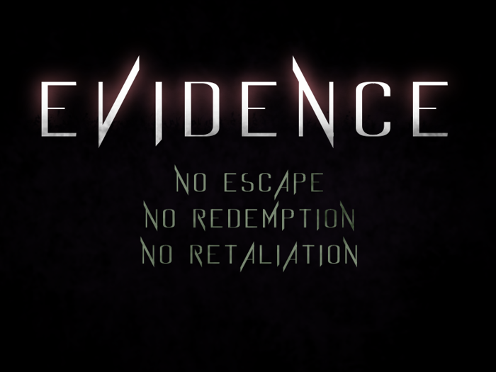 Evidence Font poster