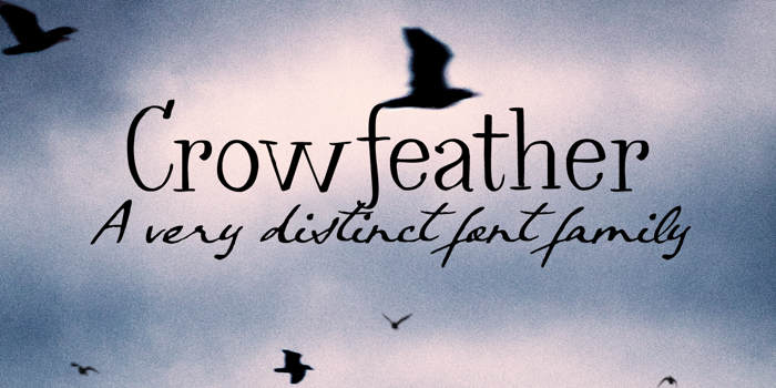 Crowfeather Script DEMO Font poster