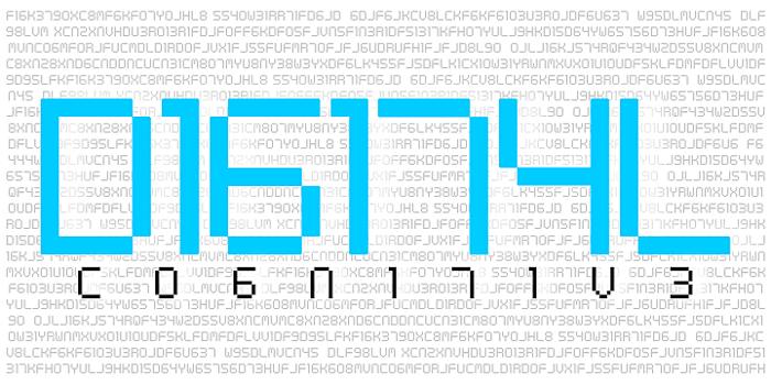 Digital cognitive Font poster