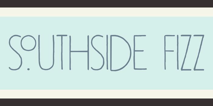 DK Southside Fizz Font poster