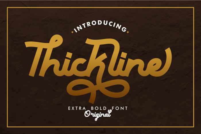 Thickline Font poster