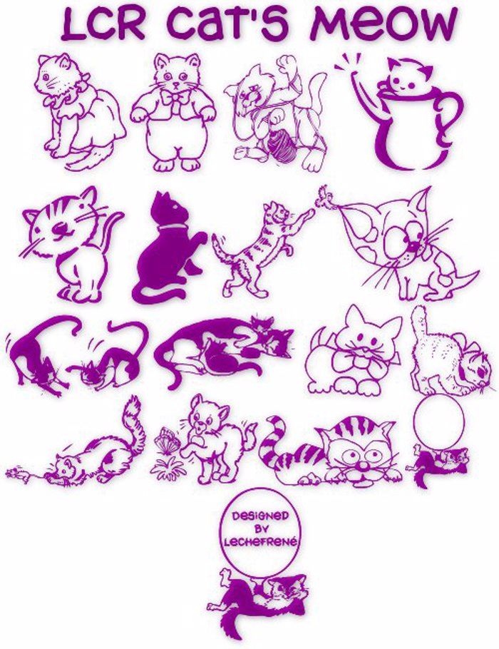 LCR Cat's Meow Font poster
