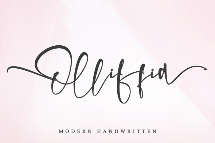Olliffia Font poster