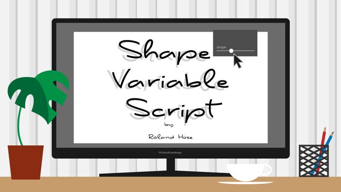 Shape Variable Script Font poster
