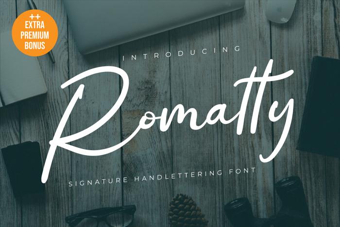Romatty Font poster