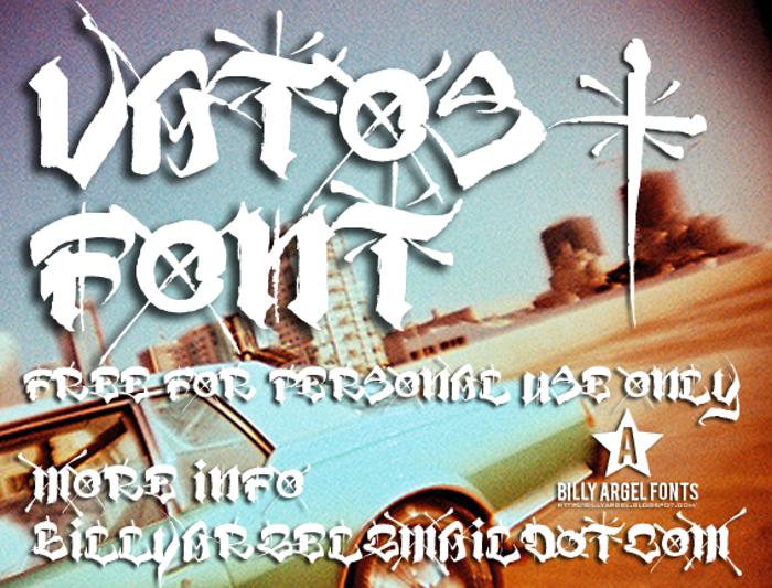 VATOS Font poster