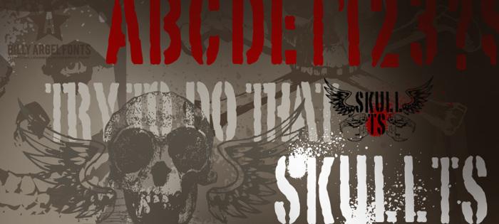 SKULL TS 2 Font poster