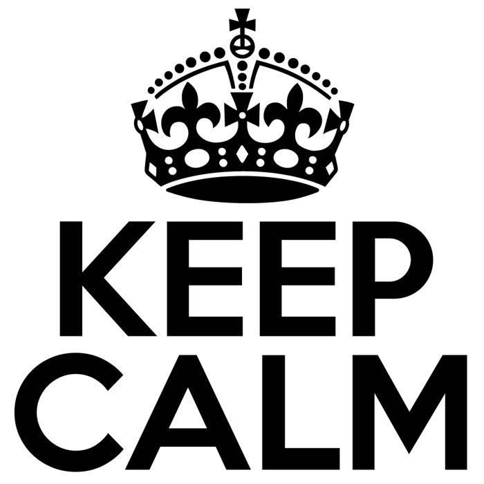Keep Calm Med Font poster
