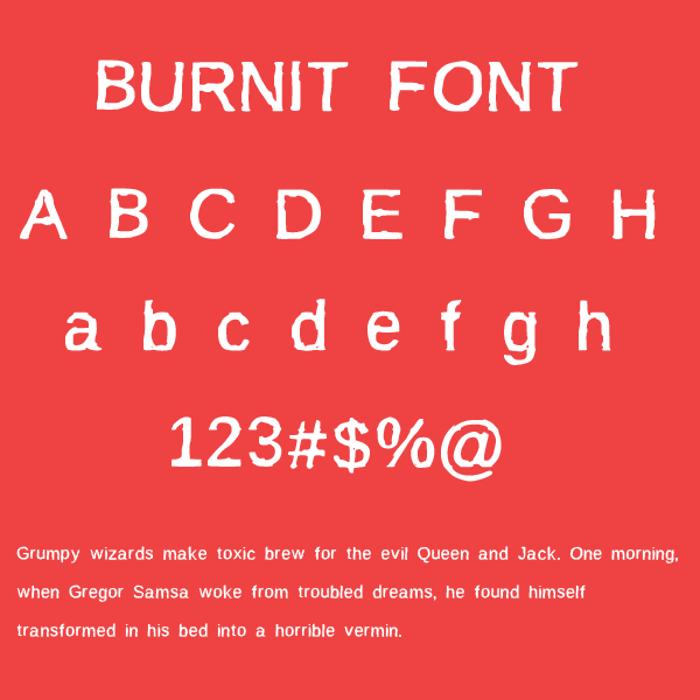 BurnIt Font poster