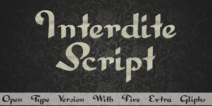 Interdite Script Font poster
