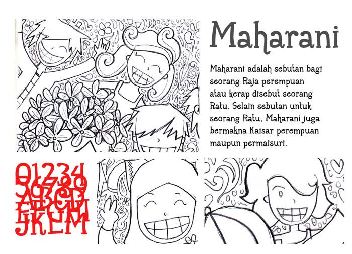 Maharani Font poster