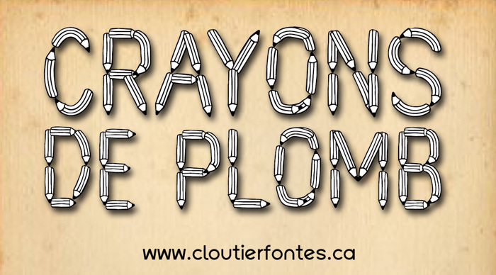 CF Crayons de plomb PERSONALUSE Font