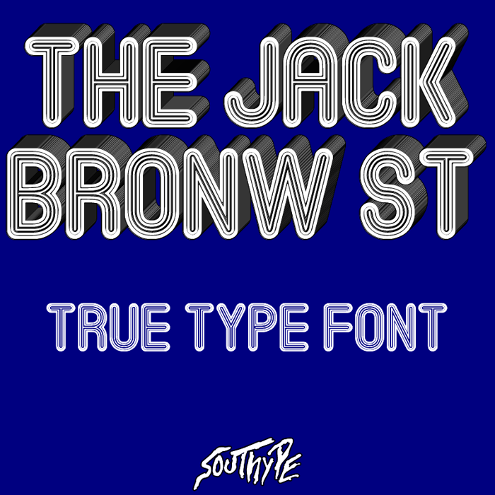 The Jack Bronw St Font poster