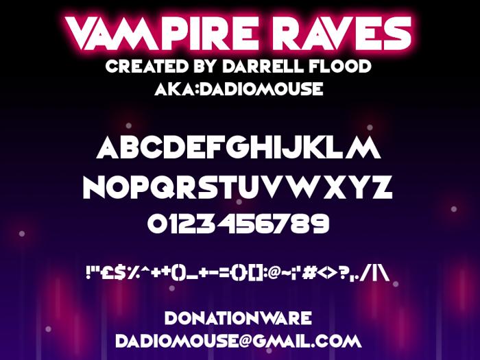 Vampire Raves Font poster