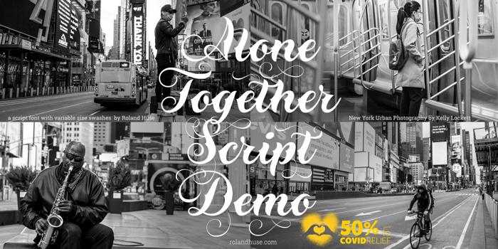 Alone Together Script Font poster
