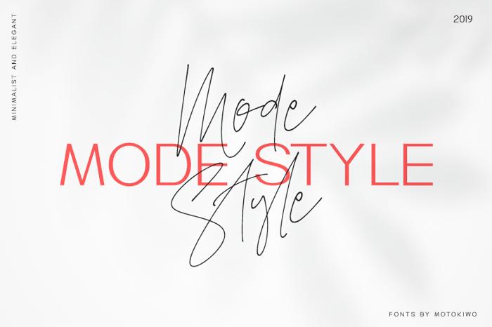 Mode Style Script Font