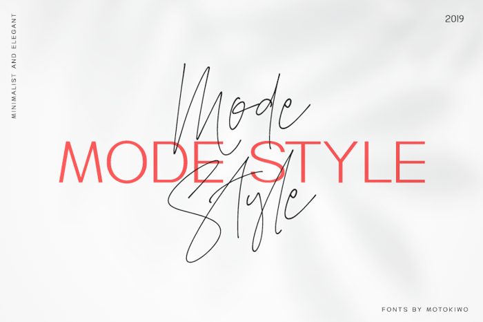 Mode Style Script Font poster