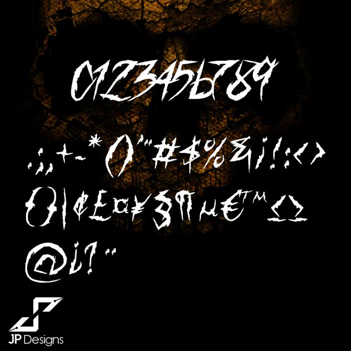 Horror & Dead DEMO Font poster