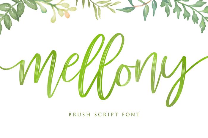 mellony dry brush Font poster