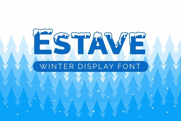 Estave Font poster