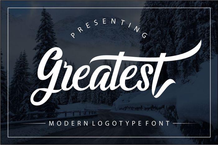 Greatest Script Font poster