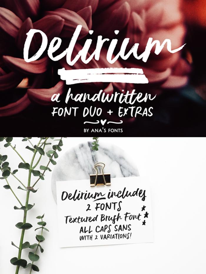 Delirium Sample Font poster