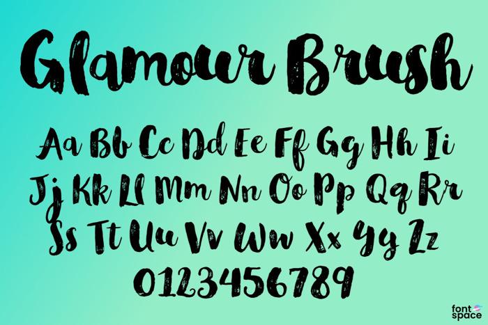 Glamour Brush Font poster