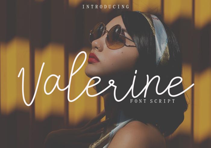 Valerine Font poster