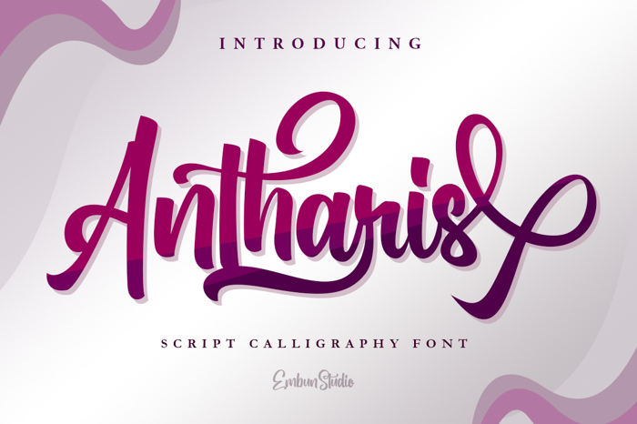 Antharis Font poster