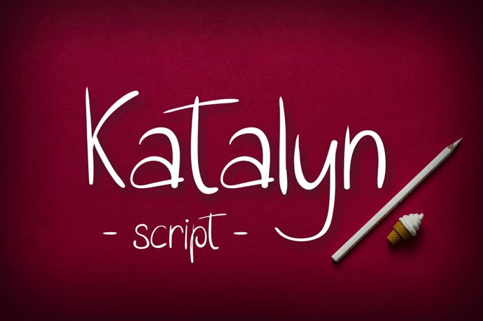 Katalyn Font poster