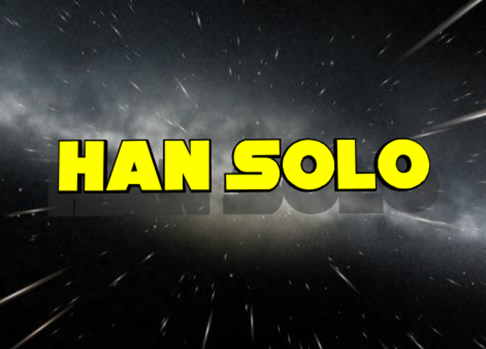Han Solo Font poster