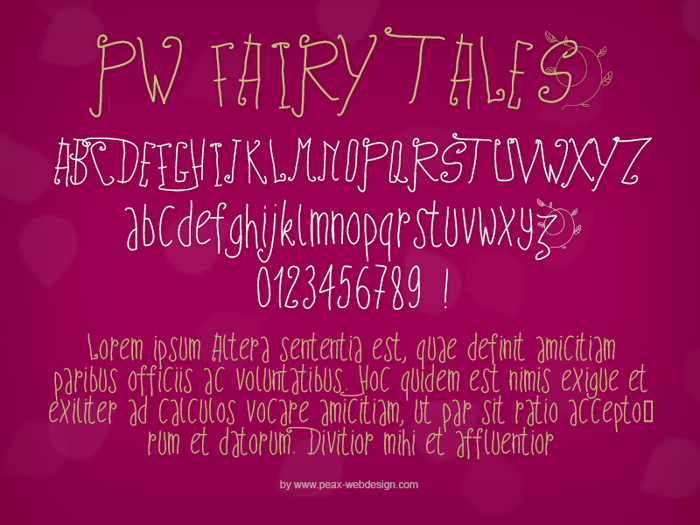 PWFairyTales Font poster